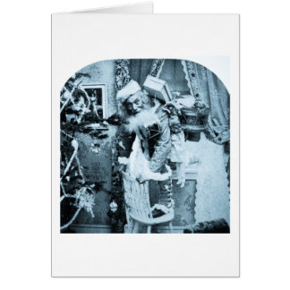Vintage Stereoview - Christmas Delivery Greeting Card