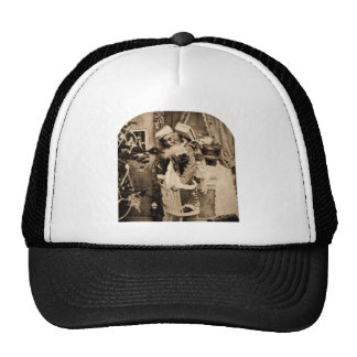 Vintage Stereoview - Christmas Delivery Mesh Hat