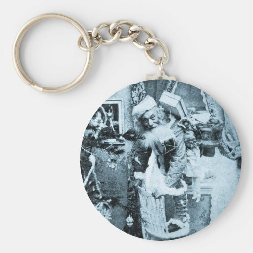 Vintage Stereoview - Christmas Delivery Keychains