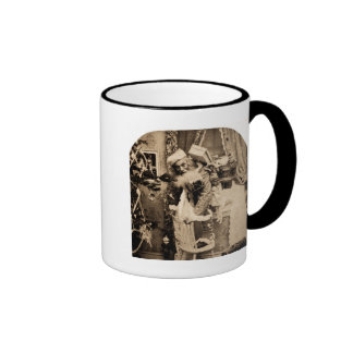 Vintage Stereoview - Christmas Delivery Coffee Mugs