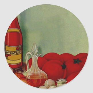 Vintage Sticker Gift Barbeque Sauce Tomatoes ingre
