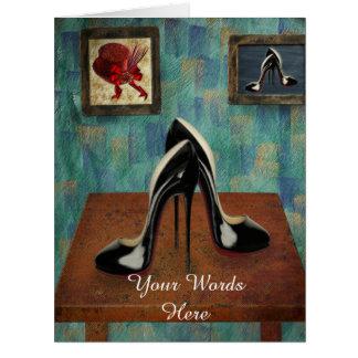 Vintage Stiletto Painting - Digital Art Card
