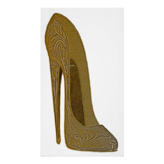 Vintage Stiletto Shoe Art Poster