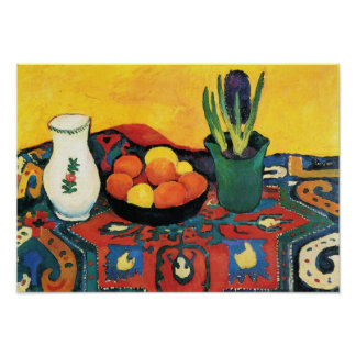 Vintage Still life Hyacinth carpet August Macke Poster