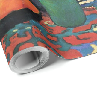 Vintage Still life Hyacinth carpet August Macke Wrapping Paper