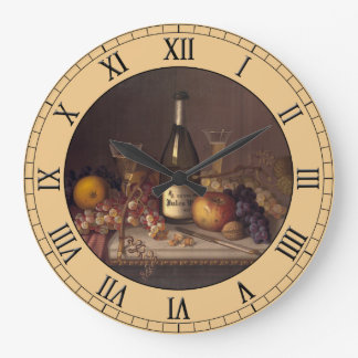 Vintage Still Life Painting Round Clock