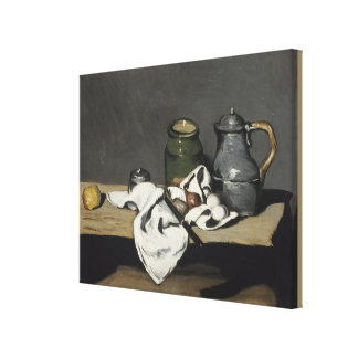 Vintage Still Life with a Kettle by Paul Cezanne Canvas Print