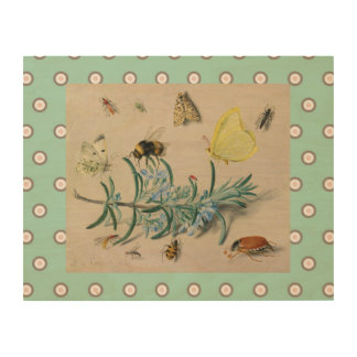 Vintage Still Life With Bees Wall Art
