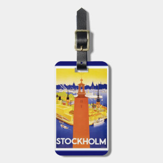 Vintage Stockholm Luggage Tag