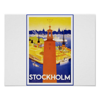 Vintage Stockholm Travel Poster