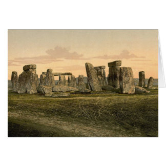Vintage Stonehenge Note Card