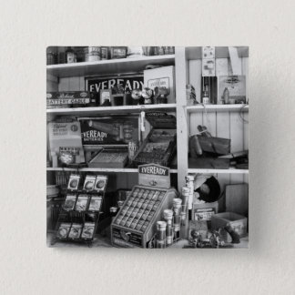Vintage Store Shelves 2 Inch Square Button
