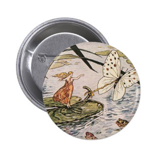 Vintage Storybook Thumbelina 2 Inch Round Button