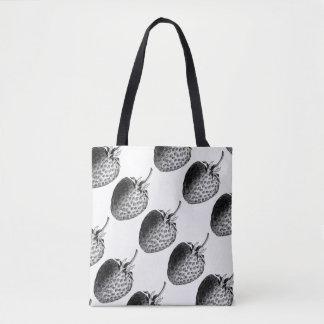 Vintage Strawberries All-Over-Print Tote Bag