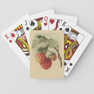 Vintage strawberries playing cards