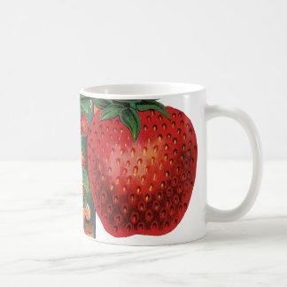 Vintage Strawberries, Strawberry Plants on a Farm Coffee Mug
