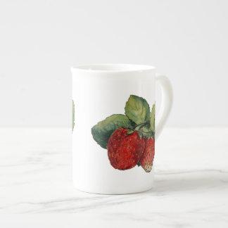 Vintage Strawberries Tea Cup
