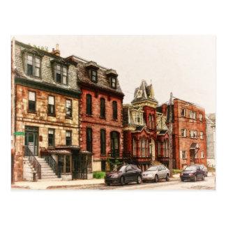 Vintage Street in Halifax Postcard
