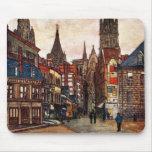 Vintage Street Scene Rouen France Medieval