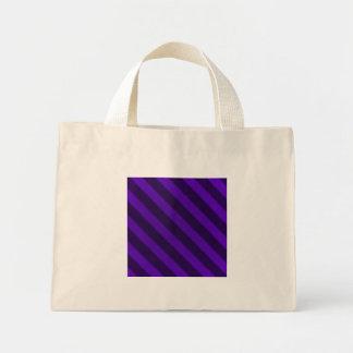 Vintage Stripe Amethyst Grunge Small Mini Tote Bag
