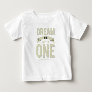 Vintage striped Cornsilk Dream Big Little one Baby T-Shirt