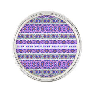 Vintage Striped Ornate Pattern Lapel Pin