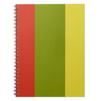 Vintage stripes background notebook