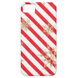 Vintage Stripes & Snowflakes iPhone 5 Cases