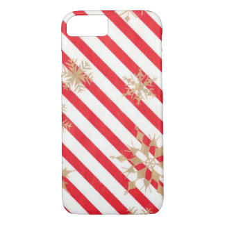 Vintage Stripes & Snowflakes iPhone 7 Case