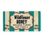 Vintage Stripes Wildflower Honey Jar - Horizontal