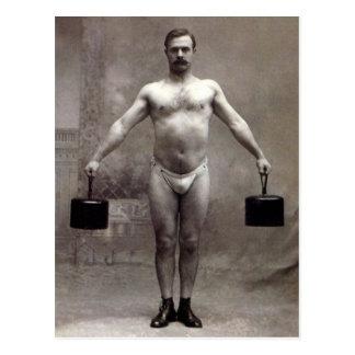 Vintage Strongman Postcard