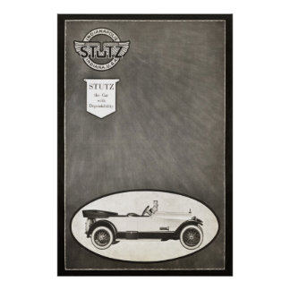 Vintage Stutz Car Ad from 1919 Poster