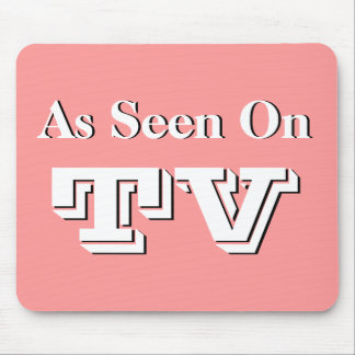 Vintage Style Advertising Screen As Seen On TV Mouse Pad