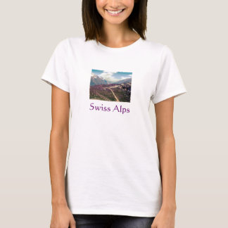 Vintage style Alpine View -- Swiss Alps T-Shirt