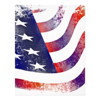 Vintage Style American Flag Letterhead
