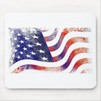 Vintage Style American Flag Mouse Pad