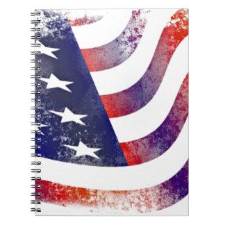 Vintage Style American Flag Notebooks