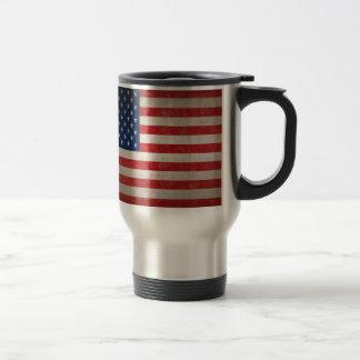Vintage Style American Flag Patriotic Design Mugs