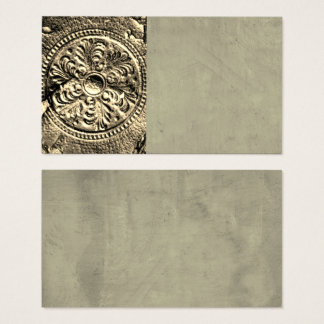 vintage style antique leather design business card
