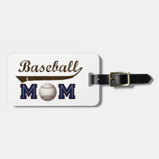 Vintage Style baseball mom Luggage Tag