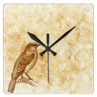 Vintage Style Bird Design Wall Clock