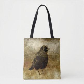 Vintage Style Blackbird Tote Bag