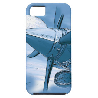 Vintage style Blue Turbo Aircraft I Phone 5 Case