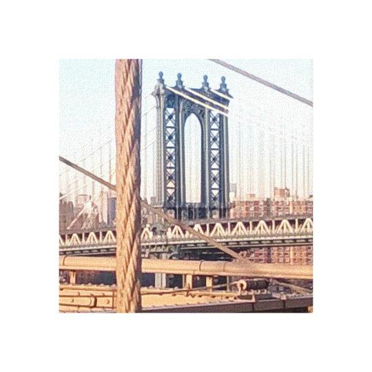 vintage style, Brooklyn Bridge Canvas Print