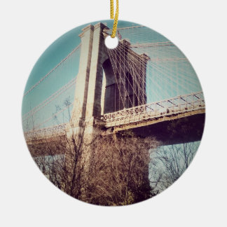 vintage style, Brooklyn Bridge Ceramic Ornament