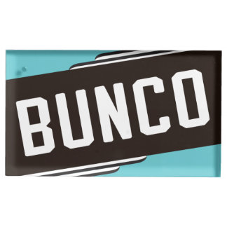 Vintage Style Bunco Table Card Holder