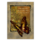 Vintage Style Butterfly Illustration Card