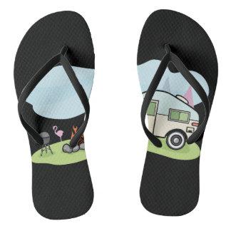 Vintage Style Camper Flip Flops