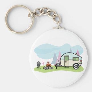 Vintage Style Camper Keychain