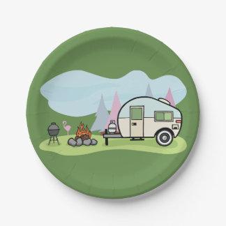 Vintage Style Camper Paper Plates